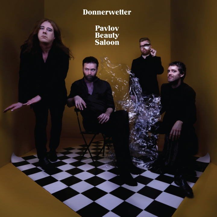 Pictured above is the album cover of 'Pavlov Beauty Saloon' by Donnerwetter, released in 2016 on Butler Records